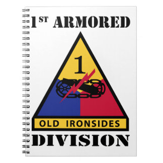 1st Armored Division W/Text Spiral Note Books