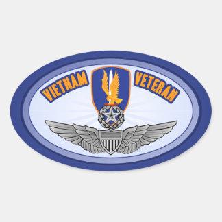 1st Avn Bde Master Aviator Oval Sticker