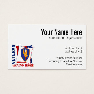 1st AVN BDE Veteran Business Card