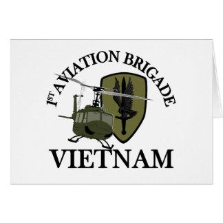 1st AVN BDE Vietnam Vet Huey Card