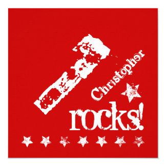 1st BABY Birthday Diagonal Design Grunge Stars Z01 13 Cm X 13 Cm Square Invitation Card