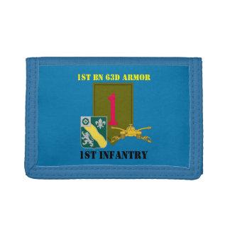 1ST BATTALION 63D ARMOR 1ST INFANTRY WALLET