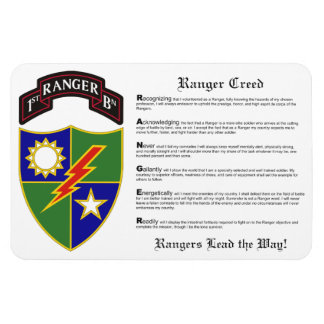 1st Battalion - 75th Ranger Regiment Magnet 4x6