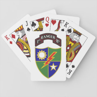 1st Battalion - 75th Ranger Regiment Playing Cards