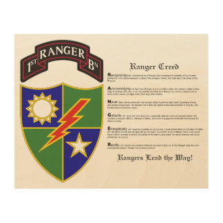 1st Battalion - 75th Ranger Regiment Wood Wall Art