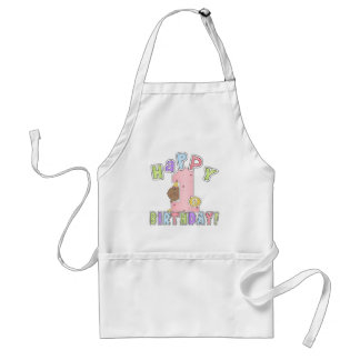 1st Birthday African American Girl Aprons