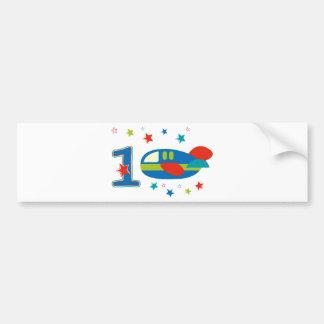 1st Birthday Airplane Bumper Stickers