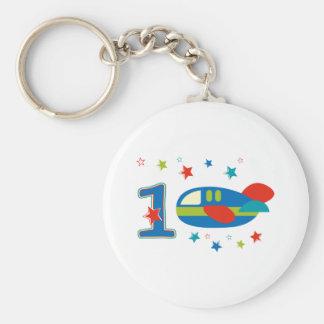 1st Birthday Airplane Keychains