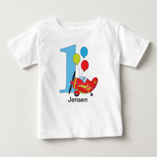 1st Birthday Airplane Red/Blue Tees