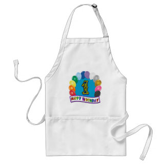 1st Birthday Apron with Assorted Balloons Design