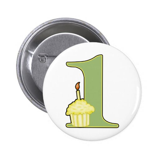 1st Birthday Button