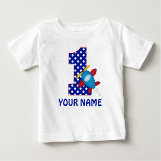 1st Birthday Boy Airplane Personalized Shirt