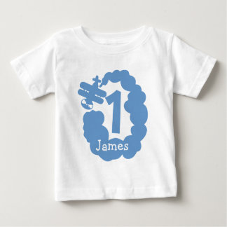 1st Birthday boy | Personalized airplane t shirt