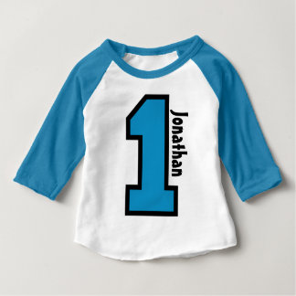 1st Birthday Boy Sports Number One Year V007A T Shirts