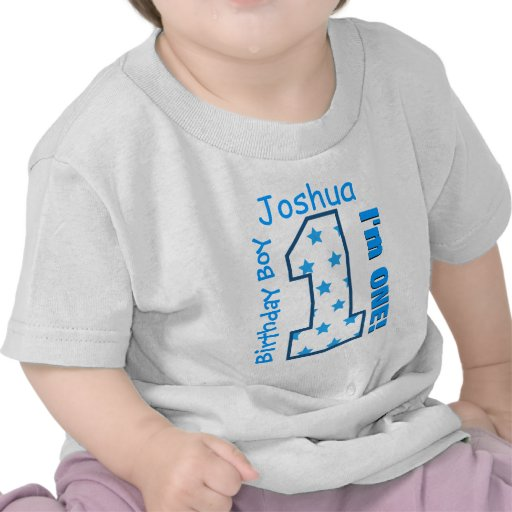 1st Birthday Boy Stars One Year Custom Name V006 Shirt