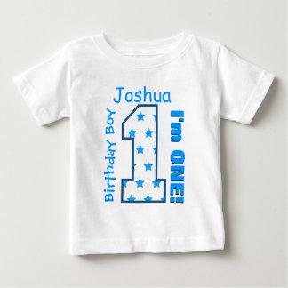 1st Birthday Boy Stars One Year Custom Name V006 Tee Shirts