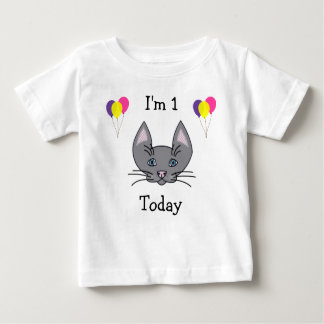 1st Birthday Cat T-Shirt