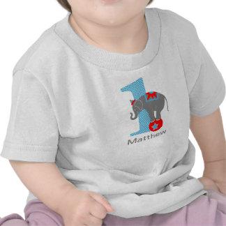 1st Birthday Circus Elephant Shirt