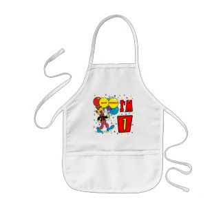 1st Birthday Clown Birthday Apron