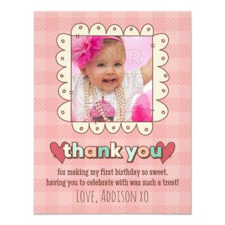 1st Birthday Cupcakes Thank You Card 11 Cm X 14 Cm Invitation Card
