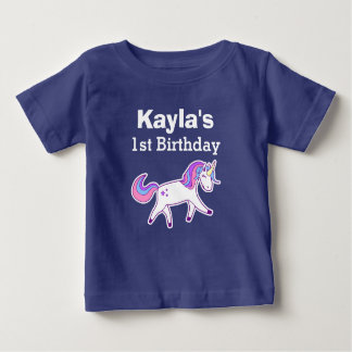 1st Birthday Cute Magical Unicorn Baby T-Shirt