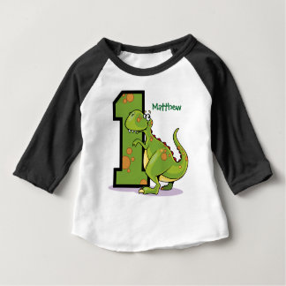 1st Birthday Dinosaur Custom Baby T-Shirt