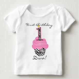 c0362ee6728d1 Cupcake 1st Birthday T-Shirts & Shirt Designs | Zazzle.com.au