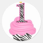 1st Birthday Diva Cupcake Sticker