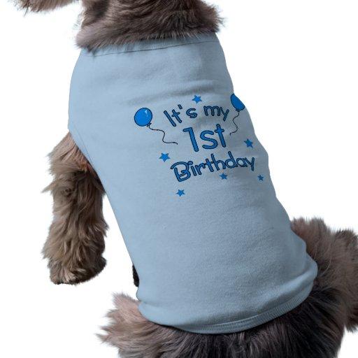 1st Birthday Dog Pet Tee Shirt