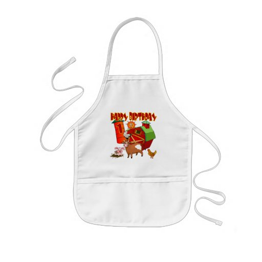 1st Birthday Farm Birthday Kids Apron