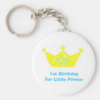 1st Birthday for Little Prince Key Chain