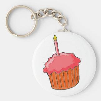 1st Birthday Girl Art Keychain
