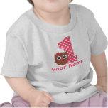 1st Birthday Girl Owl Personalised T-shirt