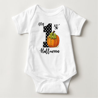 1st Birthday Girl Pumpkin Baby Bodysuit
