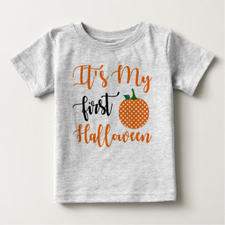 1st Birthday Girl Pumpkin Baby T-Shirt