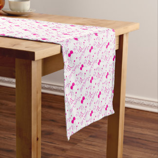 1st birthday girl theme short table runner