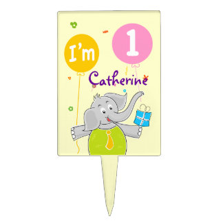 1st Birthday I am 1 Years Old Cake Toppers