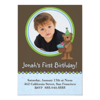 "1st Birthday Invitations 5"" X 7"" Invitation Card"