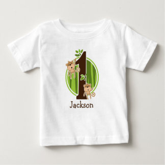1st Birthday Jungle Monkeys Tshirt