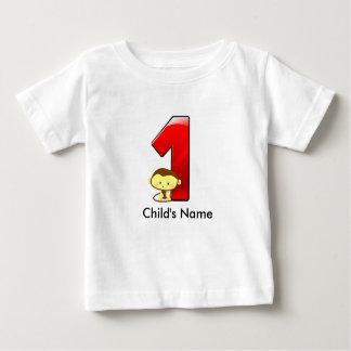 1st Birthday Monkey t-Shirt