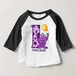 1st Birthday Monster Custom Baby T-Shirt