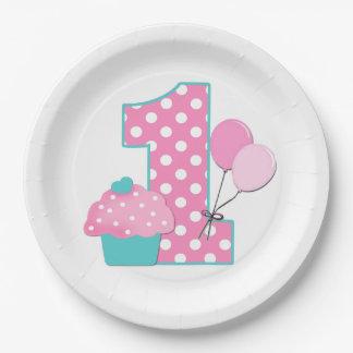1st Birthday Paper Plate