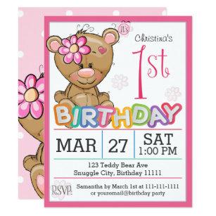 teddy bear invitations announcements zazzle au