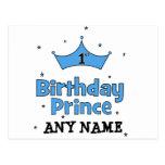 1st Birthday Prince Postcards