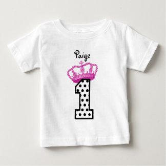 1st Birthday Princess Polka Dots 2 Baby T-Shirt