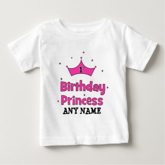1st Birthday Princess!  with pink crown T Shirt