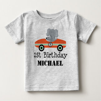 1st Birthday Race Car Personalised T-shirt