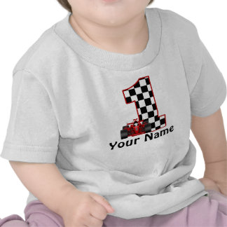1st Birthday Race Car Personalized Shirt