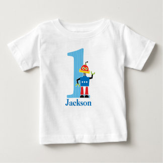1st Birthday Robot T shirt