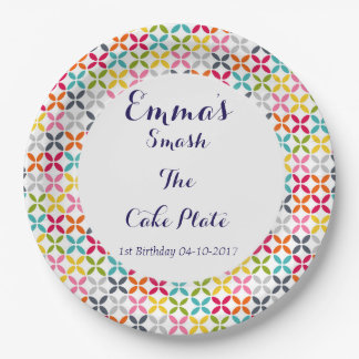 1st Birthday Smash The Cake 9 Inch Paper Plate